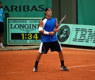 Robby ginepri. American tennisman robby ginepri playing at Roland Garros 2008 open Stock Photo