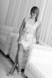 Robe élégante blanche Photos stock