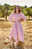 Robe élégante de bel de jeune femme usage sexy de mannequin de Images stock