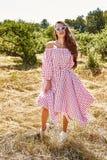 Robe élégante de bel de jeune femme usage sexy de mannequin de Images libres de droits