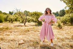 Robe élégante de bel de jeune femme usage sexy de mannequin de Photo stock
