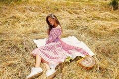 Robe élégante de bel de sexyyoung de femme usage de mannequin de Photographie stock