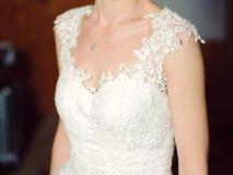 Robe élégante de dentelle Photo libre de droits