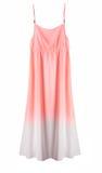 Robe élégante de long été du ` s de femmes d'isolement photo stock