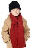 Robe adorable de garçon pour l'hiver Images stock
