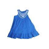 Robe bleue pour des filles images stock