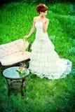 Robe de jeune mariée Photographie stock