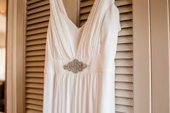 Robe de jeune mariée image stock