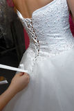 Robe de mariée photos stock