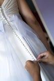 Robe de mariage Photographie stock