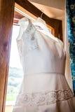 Robe de mariage Photos stock