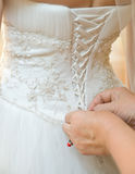 Robe de mariage Photo libre de droits