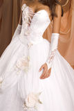 Robe de mariage Images stock