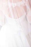 Robe de mariage blanche Photographie stock libre de droits