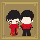 Robe de mariage chinoise illustration stock