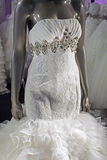 Robe de mariage. Detail-1 Images stock