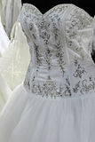 Robe de mariage. Detail-12 Photo stock