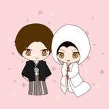 Robe de mariage japonaise Images libres de droits