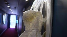 Robe de mariage Matin nuptiale banque de vidéos