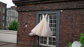 Robe de mariage nuptiale banque de vidéos
