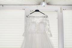 Robe de mariage perpared pour la mariée Photo stock