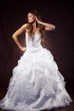 Robe de mariage s'usante de modèle de mode photos libres de droits