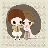 Robe de mariage thaïlandaise Images libres de droits