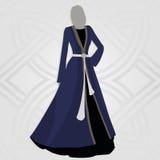 Robe de style ancien, vecteur Images stock
