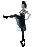 Robe en soie d'été de noir de mode de femme Photo stock
