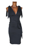 Robe femelle noire images stock