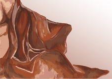Robe longue de ondulation de tissu Illustration Libre de Droits