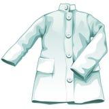 Robe médicale blanche, uniforme fonctionnant Photographie stock libre de droits