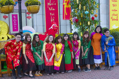Robe nationale d'ao Dai Vietnamese Image stock