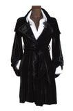Robe noire de velours Photo stock