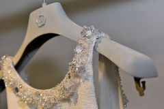 Robe nuptiale présentation pendant de Viktor et de Rolf Mariage Spring /Summer 2018 collection Image stock