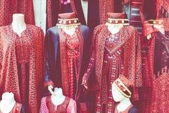 Robe perlée, robe traditionnelle à vendre à Amman, Jordanie Photos libres de droits