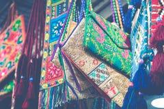 Robe perlée, robe traditionnelle à vendre à Amman, Jordanie Photographie stock libre de droits