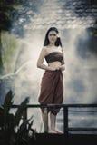 Robe traditionnelle thaïe image libre de droits