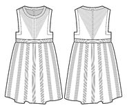 Robe tricotée par blanc Photos stock