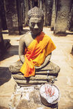 Robed Buddha Statue, Angkor Thom Stock Photography