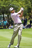 Robert Allenby. Iron shot up to the green, 1st fairway, last day of the tournament Royalty Free Stock Images