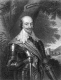 Robert Bertie. 1st Earl of Lindsey, 14th Baron Willoughby de Eresby (1583-1642) on engraving from 1827. English peer, soldier and courtier. Engraved by H Royalty Free Stock Photos