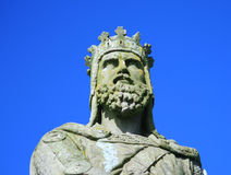 Robert the bruce. The statue outside stirling castle of robert the bruce,king of the scots Stock Photography