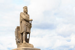 Robert the Bruce, King of Scots. Stone statue in front of Stirling castle. Scotland Royalty Free Stock Photo