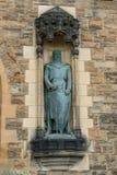 Robert The Bruce Statue in Edinburgh-Schloss Lizenzfreie Stockfotografie