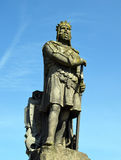 Robert the Bruce Statue. In Stirling Castle, located in Stirling, Scotland Royalty Free Stock Images