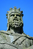 Robert the bruce stirling cast. Statue out side stirling castle Royalty Free Stock Photography