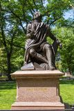 Robert Burns Memorial in Central Park, New York City. royalty free stock photos