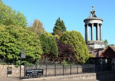 Robert Burns Memorial Monument and gardens Alloway Royalty Free Stock Photos
