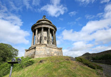 Robert Burns Monument in Edinburgh. Robert Burns Monument on Regent Road in Edinburgh, Scotland. Robert Burns is considered the National Poet of Scotland royalty free stock photography